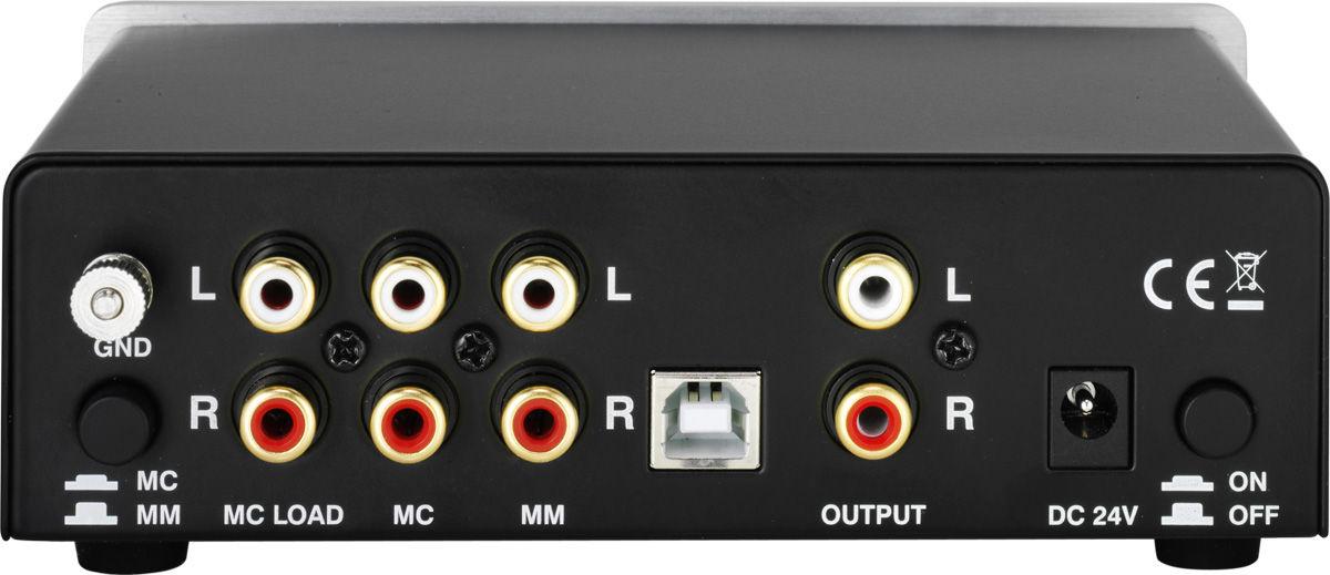 Thorens MM 008 ADC phono voorversterker achterkant