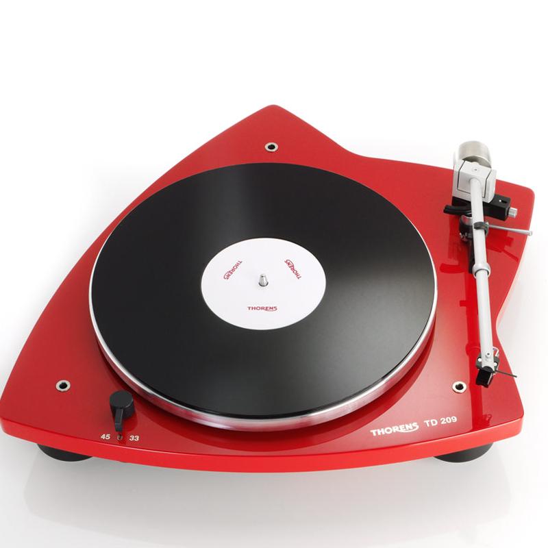 Thorens TD 209 platenspeler rood